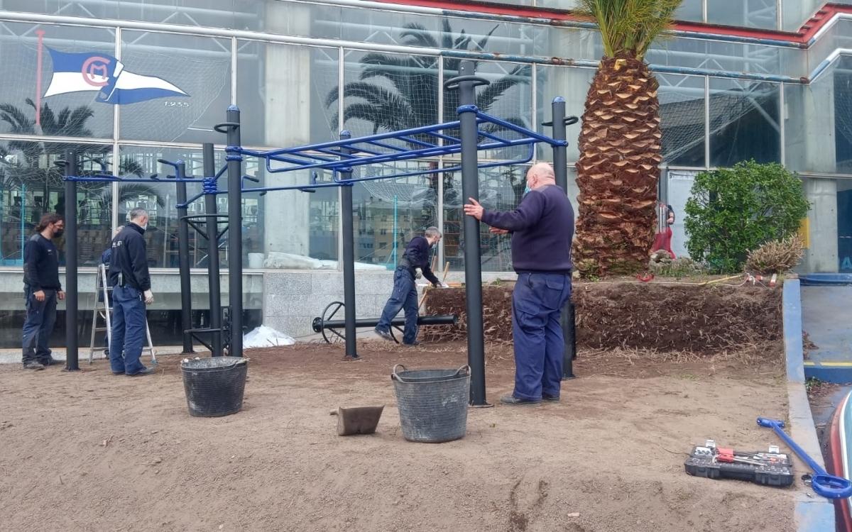 Inauguración del nuevo parque de calistenia